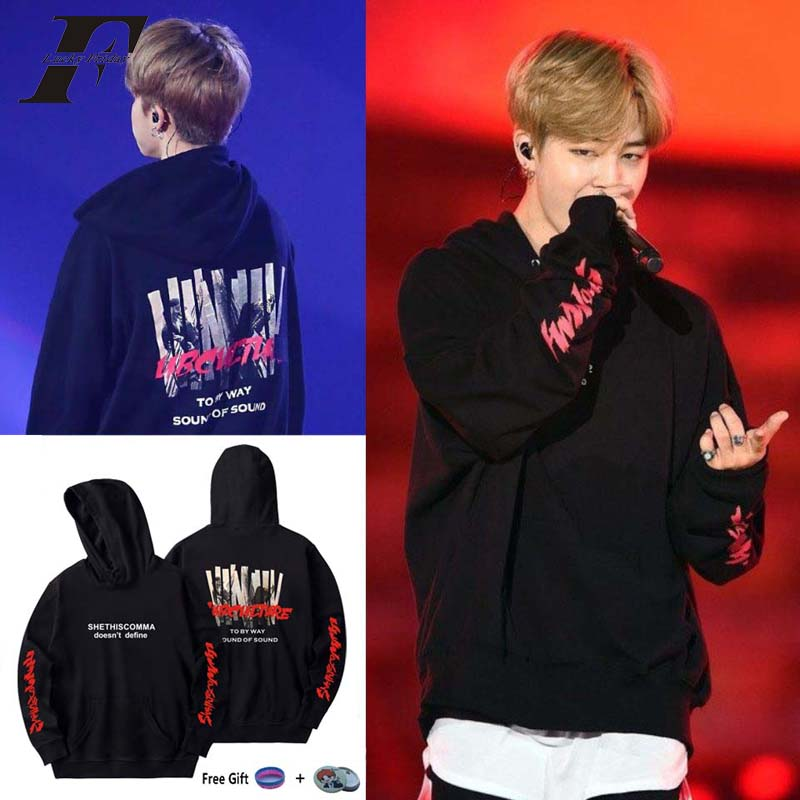 2018 Bts Jimin übergroßen Hoodie Sweatshirt Bangtan Boys Für Frauen Männer Koreanische K-pop Casual Moletom Idol Rosa Jacke Trainingsanzug