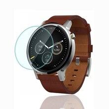 Motorola moto 360 42mm 46mm smart watch gehärtetem glas displayschutzfolie sicherheit schutzfolie für smartwatch 2.5d 9 h film t90