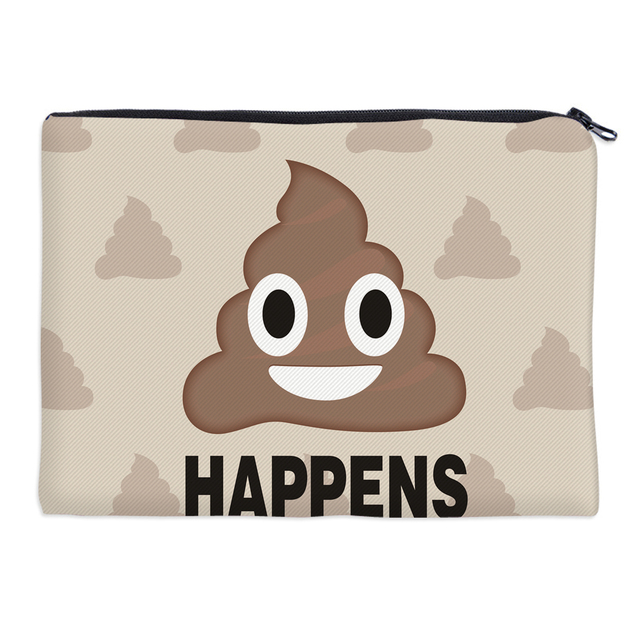 1dda8a643b4c US $2.2 55% OFF|BBL 3D Funny Emoji Face Instagram Follow Me Cosmetic Bag  Multifunction Makeup Bag Large Capacity Storage Toiletry Bag for Travel-in  ...