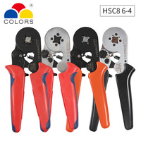 HSC8 6 4 0.25 10mm2 23 7 AWG crimping pliers HSC8 6 6 a 0.25 6mm2 Mini Round Nose Pliers Tube awge needles Terminals Tools|Pliers|Tools -