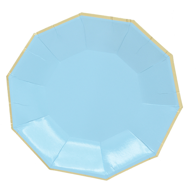 16pcs 7\  9\  Paper Plates Set Pink Blue Green Solid Color Decagon Theme Party  sc 1 st  AliExpress.com : pink and blue paper plates - pezcame.com