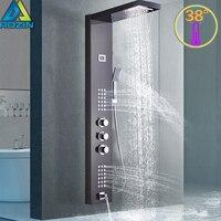 Умная душевая панель с термостатом кран Термостатический смеситель для душа набор водопад «тропический» душ кран 3 ручки Ta