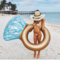Swimming Circle Toy Inflatable Diamond Ring Style Summer Swimming Pool Ploat Tube Hot Selling Products Raft Kids Adult Party