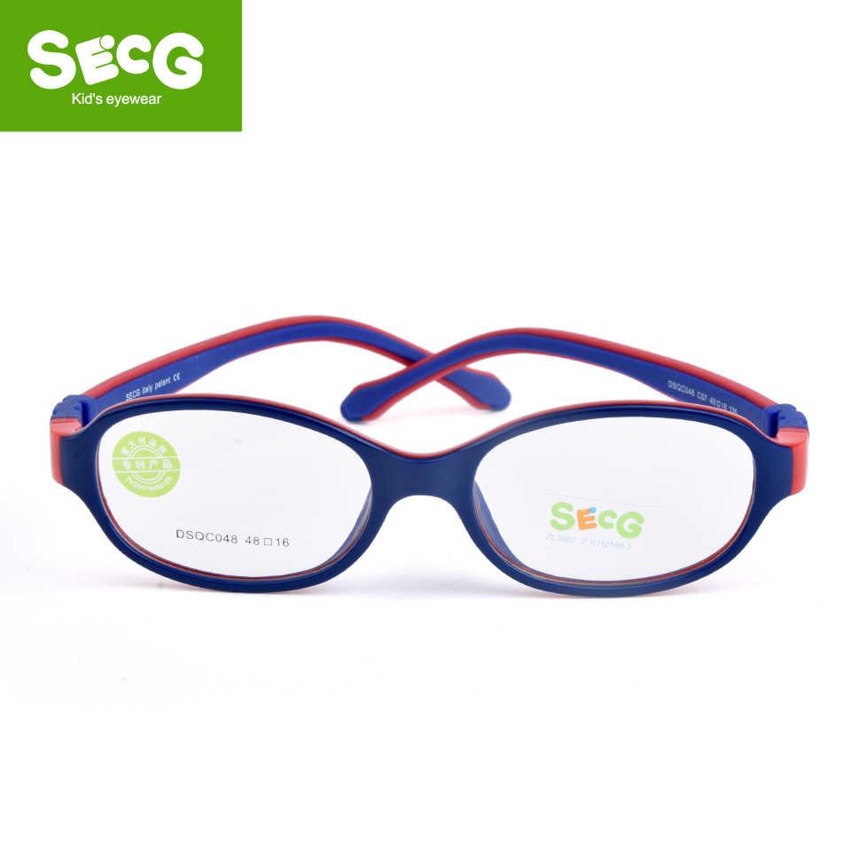 SECG 2018 TR90 Children Glass Child Frame Myopia Prescription Glass Frame Silicone Optical Kids Frames Diopter Eyewear Glasses