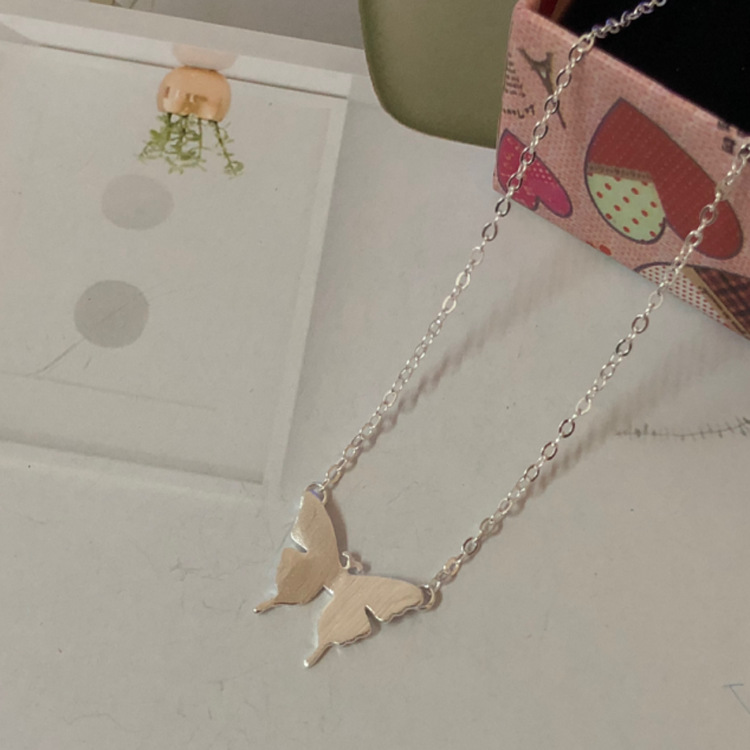 S925 sterling silver necklace jewelry cute butterfly clavicle set chain fashion silver jewelry LW19