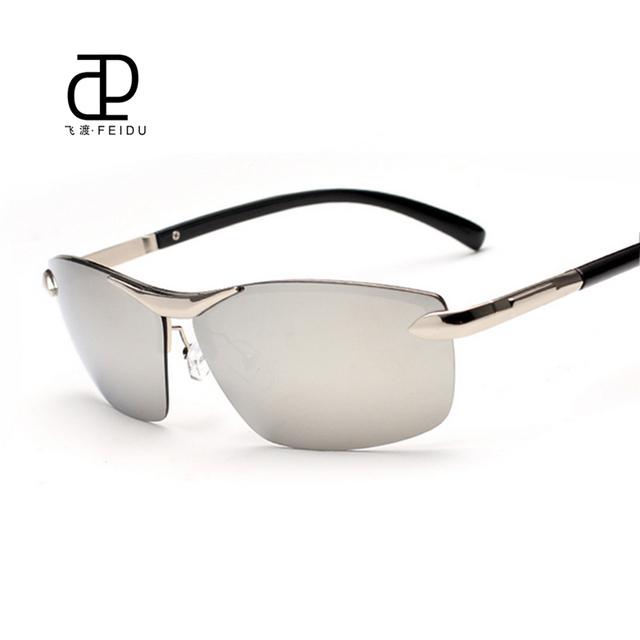 FEIDU Marca Metal Conducción Pesca gafas de Sol Polarizadas de Los Hombres Deportes Al Aire Libre Gafas de sol de Día Y de Noche Gafas De Sol Gafas Con caja