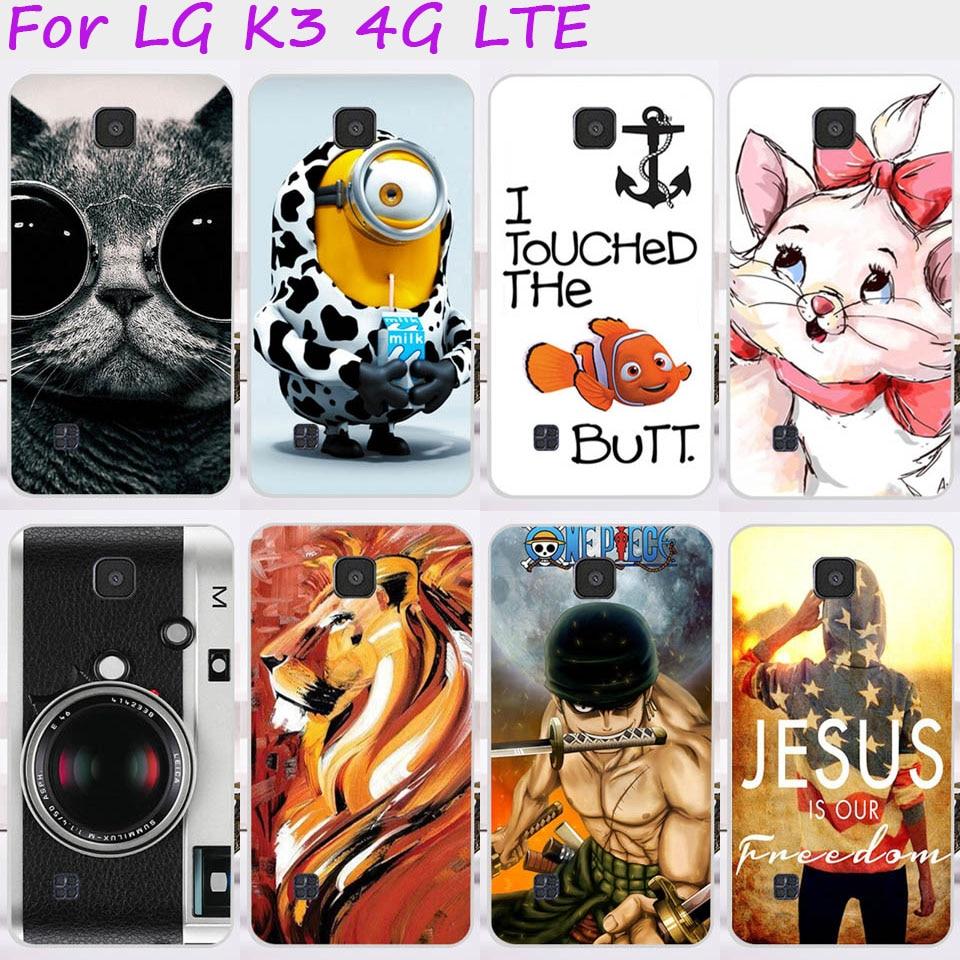 De Plástico duro Cajas Del Teléfono Móvil Para LG K3 4G LTE K100 K100DS 4.5 pulg