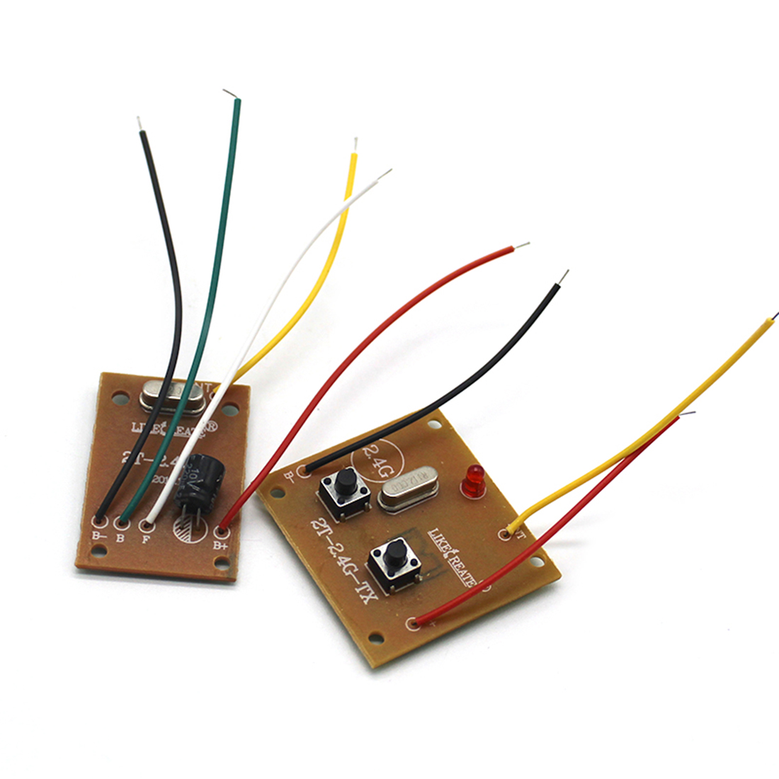2.4G 2CH Remote Transmitter <font><b>Receiver</b></font> <font><b>Board</b></font> with Antenna for DIY <font><b>RC</b></font> <font><b>Car</b></font> Boat Accessories image