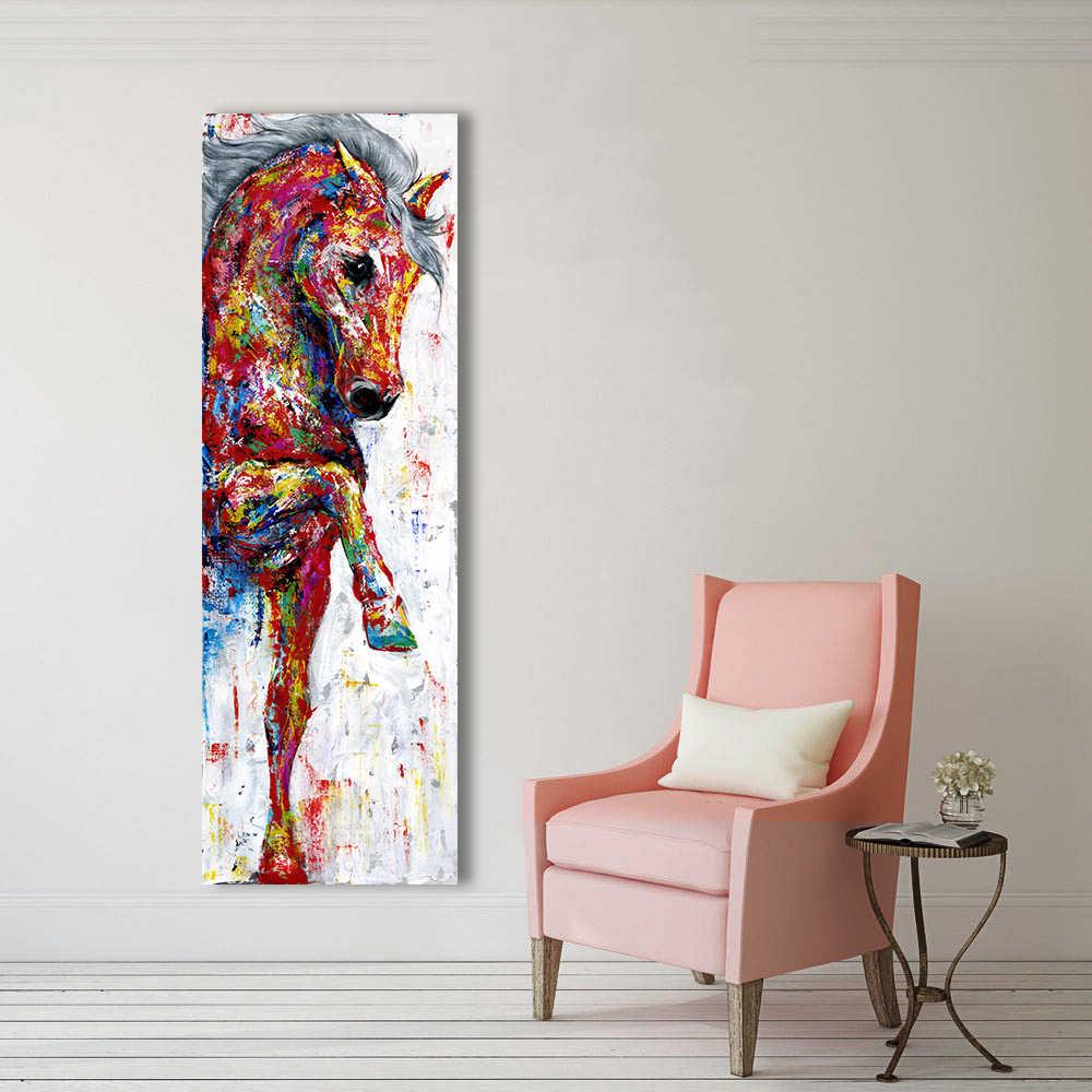 HDARTISAN di Arte Della Parete della Tela di Canapa Pittura Immagine Horse Stampe in formato Poster Pittura Animale Complementi Arredo Casa No Frame