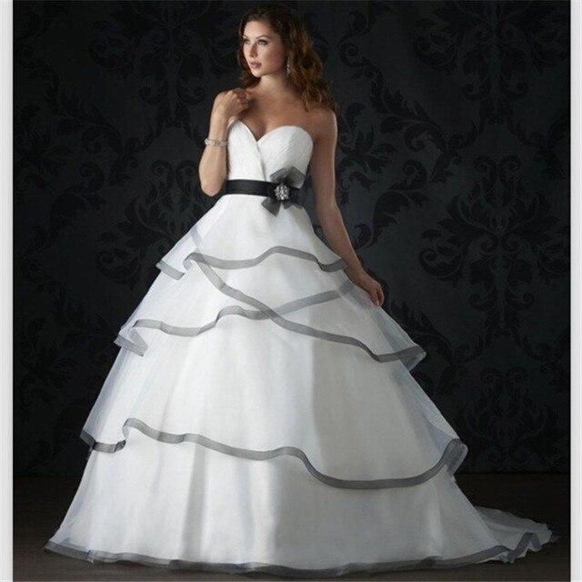 Nuevo blanco y negro vestidos 2015 de bola del amor Sexy vestidos ...