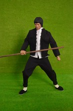 1/6 scale figure doll Kung Fu Shirts sets Bruce Lee with stick.12″ action figures doll.Collectible figure model toy gift,no box