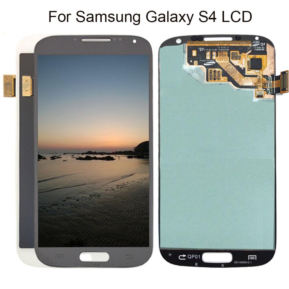 b8bd7bb4354 100% probado Super AMOLED para Samsung galaxy S4 gt i9500 i9505 i337 i545  digitalizador pantalla LCD blanco azul negro reemplazo