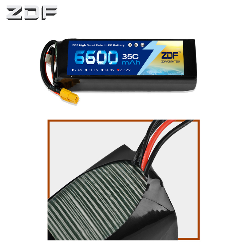 ZDF Lipo Battery 6600mAh Lipo 22.2V 6S Battery Pacl 35C Professional Drone for F5 UAV RC Batteries High QualityZDF Lipo Battery 6600mAh Lipo 22.2V 6S Battery Pacl 35C Professional Drone for F5 UAV RC Batteries High Quality