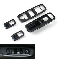 Window Master Switch Button Cover Sticker Trims Bezels Fit For Jeep Grand Cherokee Cherokee 14