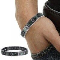 Fashion Jewelry Bracelets Bangles Bio Energy Healing Titanium Magnetic Bracelet Men Jewelry Love Bracelet Designer Gift