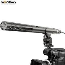 лучшая цена Comica CVM-VP2 Super-Cardioid Shotgun Microphone Condenser XLR Camera Mic for Nikon Panasonic Canon Camera/Camcorders