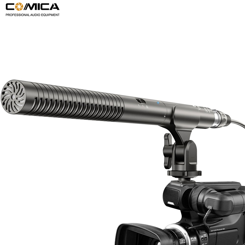 Comica CVM-VP2 Super-Cardioid Shotgun Microphone Condenser XLR Camera Mic for Ni