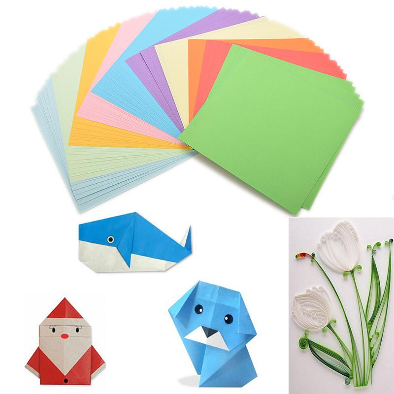 100pieces set diy color paper origami paper craft fold for Diy paper origami