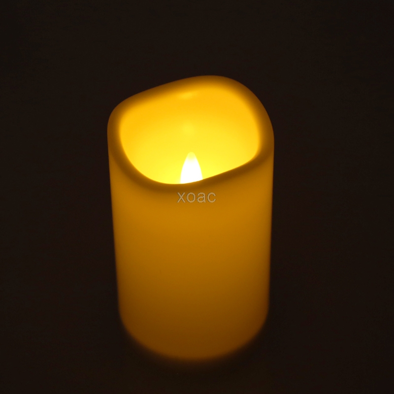 Romantic Flameless LED Electronic Candles Light Wedding Scented Wax Home Decor   M08 Dropship