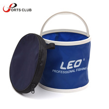 leo Outdoor Bucket Canvas Folding Bucket Portable Camping Hiking Fishing Bucket Fishing Tackle Tools 3 Colors
