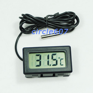 Хороший цифровой ЖК-дисплей Температура термометр-50 ~ + 70 градусов Цельсия метр тестер для аквариума #20/22W