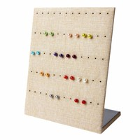 Jewelry Earring Organizer Hanging Holder Ear Studs Show Display Stand Rack Shelft15