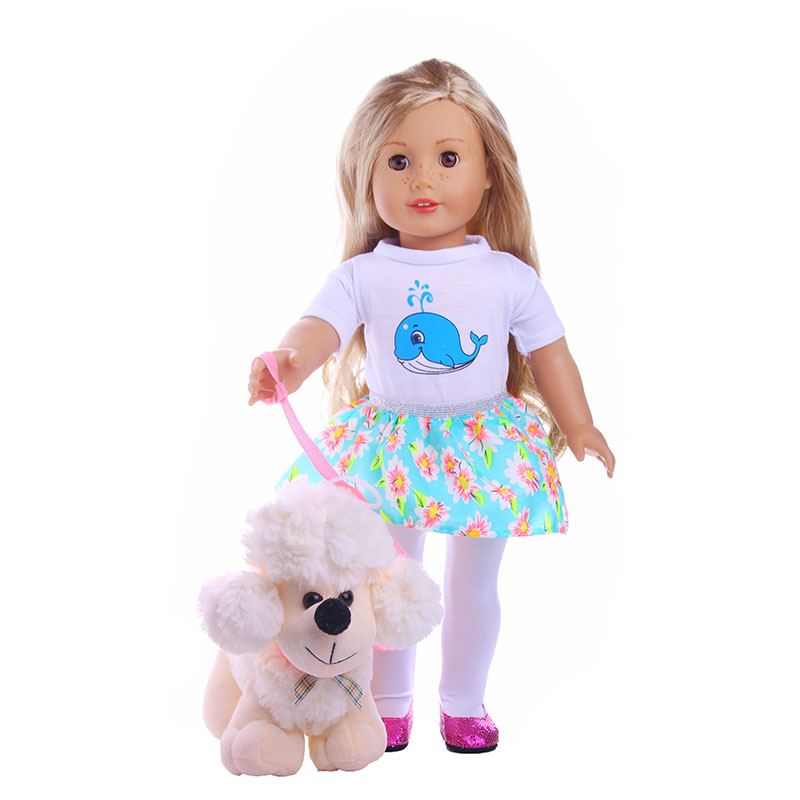 Doll Accessories, 8cm Plush Toys Cute Soft Yellow Dog Toys Doll Wear fits 18 american girl doll for baby gift  LG140 наушники sony mdrex150apl e