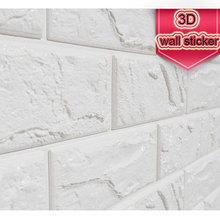 3D DIY Brick PE Foam Wall Sticker Soft Wallpaper bedroom safety anti-collision Childrens room Home Renovation Decor Panels