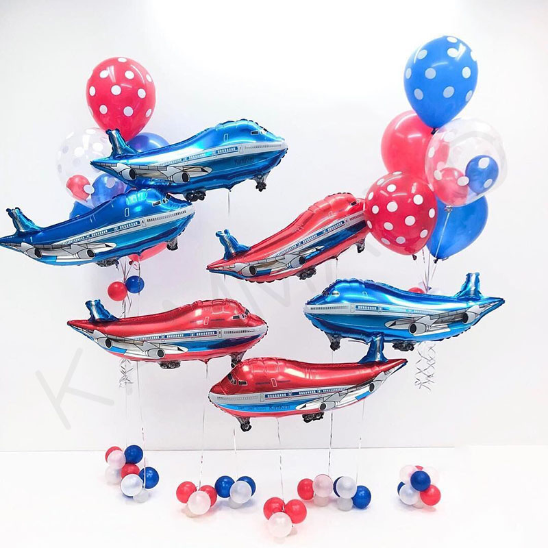 Oversized red Aircraft Balloon Kids Birthday Gifts Foil Balloons Inflatable Helium globos Party ballons