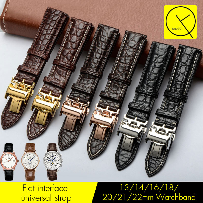 Genuine Crocodile Leather Watchband 13/14/16/18/19/20/21/22mm Watch Strap Band for Longines Watch L2 Master Collection L3 +Tools недорго, оригинальная цена