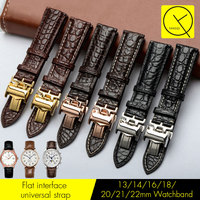 Genuine Crocodile Leather Watchband 13/14/16/18/19/20/21/22mm Watch Strap Band for Longines Watch L2 Master Collection L3 +Tools