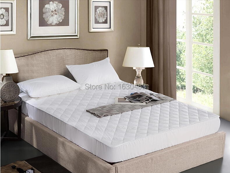 Size 100X200cm Cotton Hotel Mattress Pad Quilt Waterproof Mattress Pad <font><b>Cover</b></font> Protection For <font><b>Bed</b></font> Bug Single Size