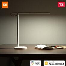 מקורי Xiaomi Mijia חכם LED שולחן מנורת 1S 4 אור מצב Dimmable 9W Mi שולחן מנורת אפל HomeKit mi בית APP שליטה קולית Siri