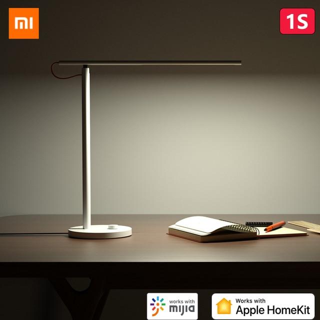 オリジナルxiaomi mijiaスマートledデスクランプ1s 4ライトモード調光対応9ワットmiテーブルランプリンゴhomekit miホームアプリsiri音声制御
