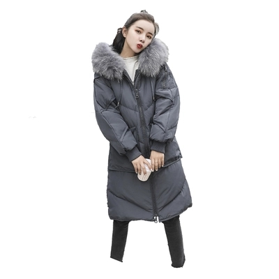 Femmes Le Parka Doudoune Hiver Bas Mode La Vêtements gris Long 2018 5xl Manteau Femme De Plus Veste Fourrure Taille Noir D'hiver Vers Vestes wYpff7qA