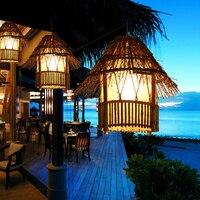 Bamboo Rattan pendant lights southeast restaurant lighting creative garden balcony aisle home decorative lighting lamps ZA zb64