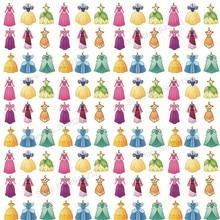 10 шт./лот искусственный мультфильм печатных платье принцессы Синтетическая кожа ткань Vinly для волос лук сумки 20 * см 34 см PPUL20