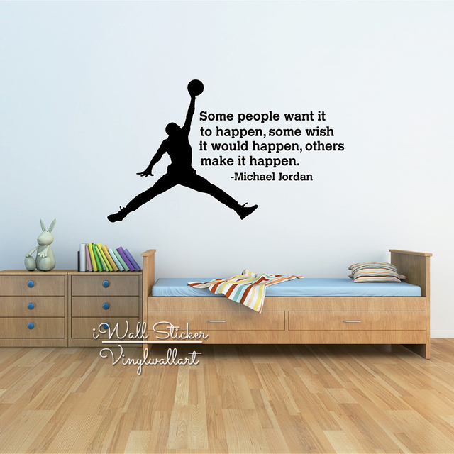 Michael Jordan Quote Wall Sticker Jordan Inspirational Wall Quotes Decal DIY Removable Motivational Wall Decals Cut & Michael Jordan Quote Wall Sticker Jordan Inspirational Wall Quotes ...