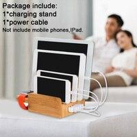 Station Charging Stand Bracket Office Desktop Multi USB Home Holder Portable Practical Eco friendly Bamboo For Phone Tablet Dock