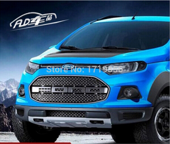 High Quality F Abs Chrome Car Front Bumper Mesh Grille Around Trim Racing Grills Fit For Ford Ecosport  In Racing Grills From Automobiles