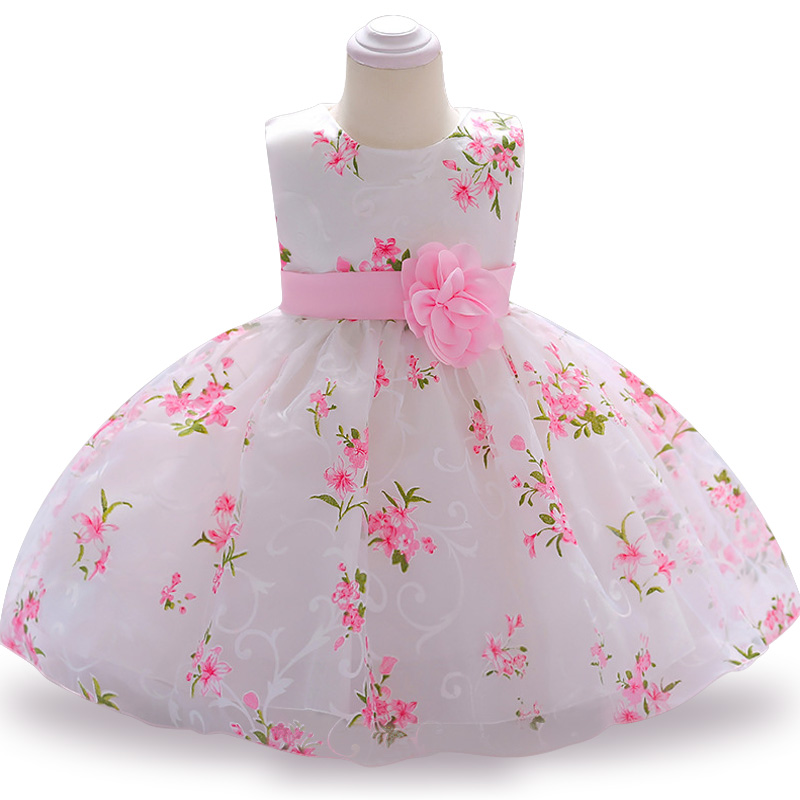 Baby Dress Tutu Newborn Girl Dress Christening Gown First Birthday Party Baby flower Clothing Tulle Toddler Girl Clothes