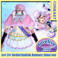 Anime Love Live Sunshine!Aqours Kunikida Hanamaru Cosplay costumes full set Animal Goat Dress Halloween costume for women