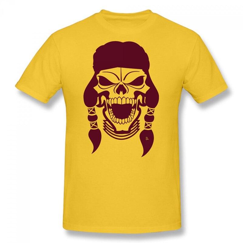 Apache skeleton krieger head sublimation übertragen herren t shirts kurzarm lässig rundhals...