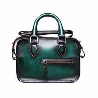 TERSE_Fashion Ladies Handbag 6 Colors Shoulder Bag Handmade Genuine Leather Women Mini Bags Dropshipping Factory price 418
