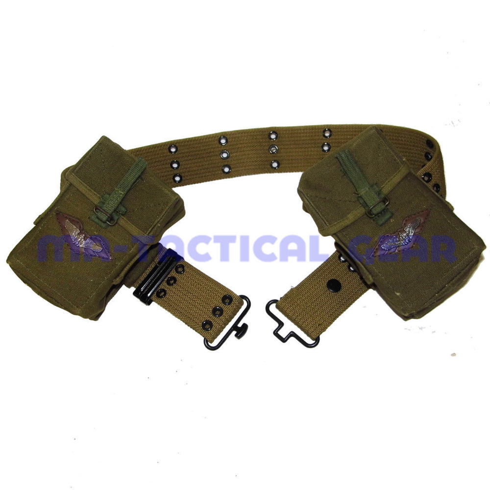 VIETNAM WAR MILITARY US ARMY S BELT AND M14 AMMO POUCH MAGAZINE BAG