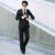 Blazer preto ternos de casamento dos homens mais recentes modelos casaco calça vestido smoking Gentleman estilo coreano de alta qualidade ternos casuais WT2