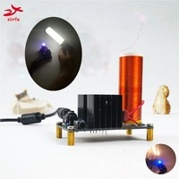 New DIY Mini Music Tesla Coil Plasma Speaker Tesla Wireless Transmission DC 15 24 Electronic Diy