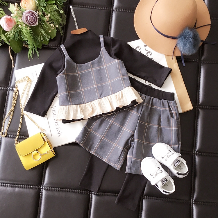 f33c02718ac5f8 3 pieces clothing sets for girls 2017 autumn vest+t shirt +leggings wide  leg pants kids clothes -in Clothing Sets from Mother & Kids on  Aliexpress.com ...