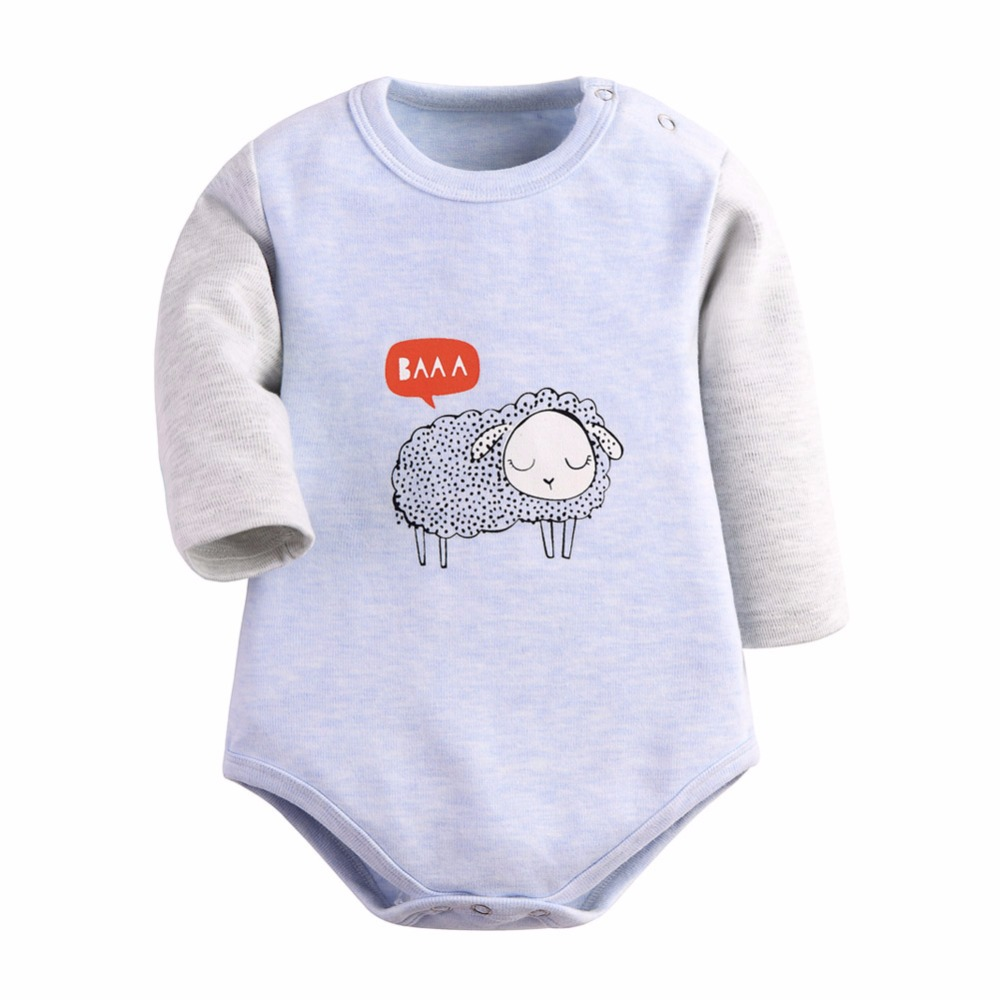 Babykleding Print.Babykleding 2 Stuks Partij Bodysuit Baby Lange Mouw Schapen Print