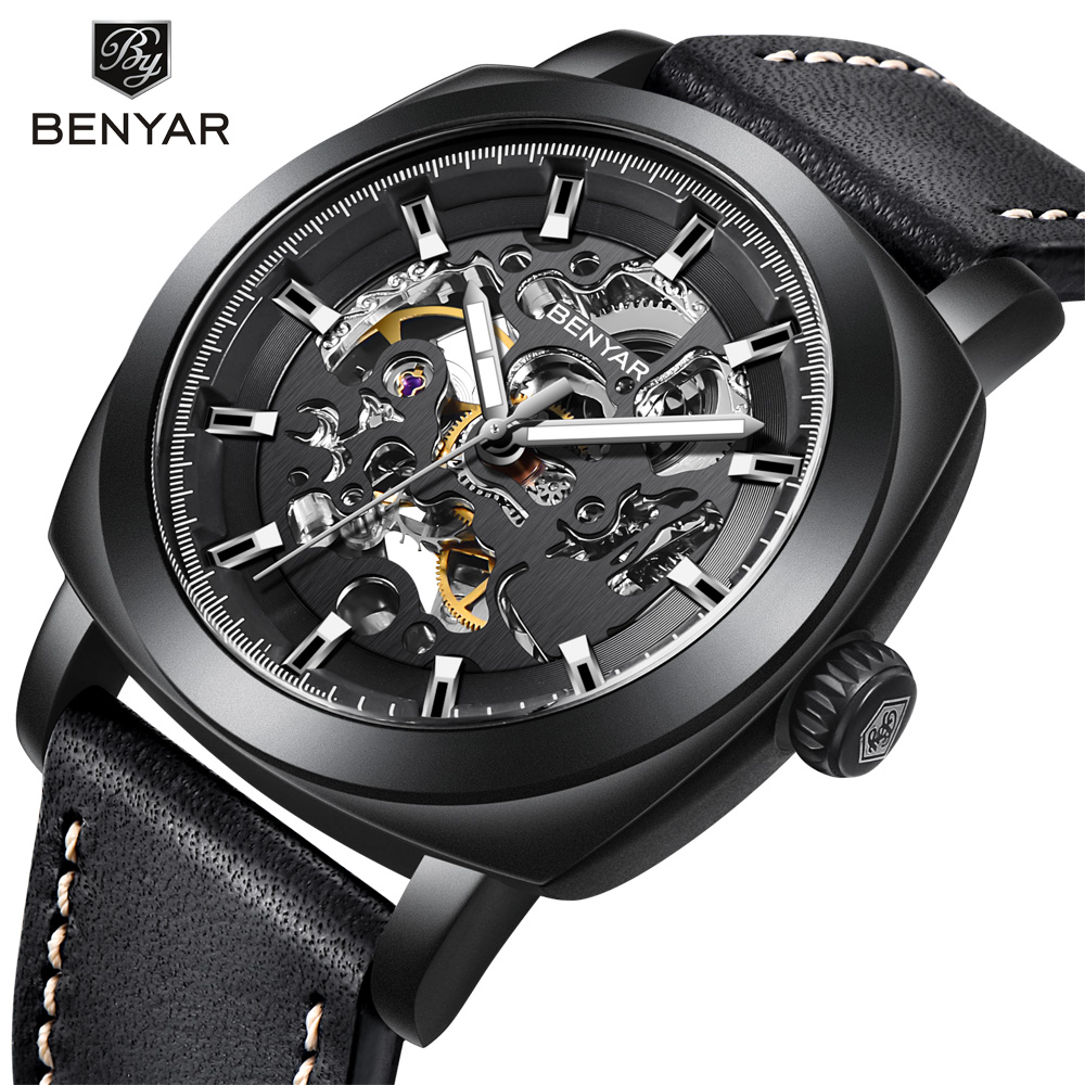 Automatic Mechanical Watches Men Luxury Top Brand Watch Fashion Business Mens Watch Waterproof Luminous Wristwatch for Man Gifts